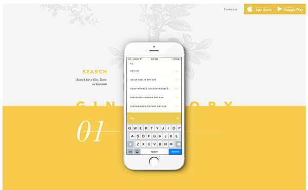Farbschema für Branding und Website - Beispiel Website in Gelb