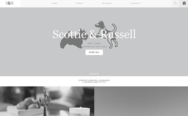 Farbschema für Branding und Website - Beispiel Website in Grau