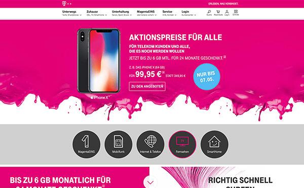Farbschema für Branding und Website - Beispiel Website in Magenta