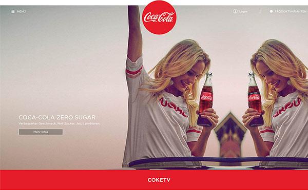 Farbschema für Branding und Website - Beispiel Website in Rot