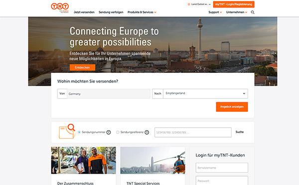 Farbschema für Branding und Website - Beispiel Website in Orange