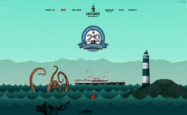 Farbschema für Branding und Website - Beispiel Website in Türkis
