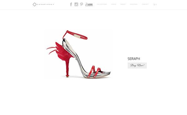 Farbschema für Branding und Website - Beispiel Website in Weiss